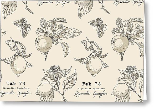 Vector Pattern In Vintage Style Greeting Card by Yana Fefelova