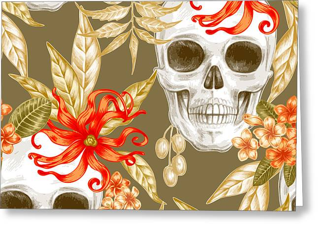Vector Seamless Background. Exotic Greeting Card