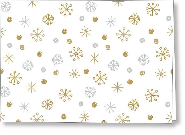 Vector Seamless Winter Pattern Greeting Card