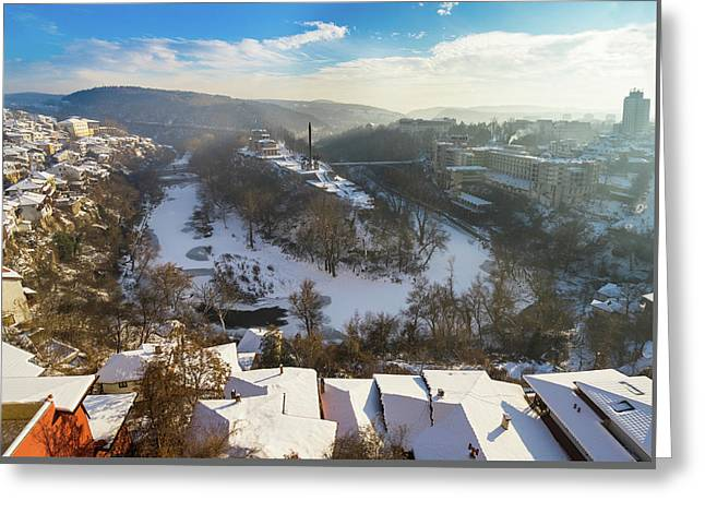 Greeting Card featuring the photograph Veliko Turnovo City by Milan Ljubisavljevic