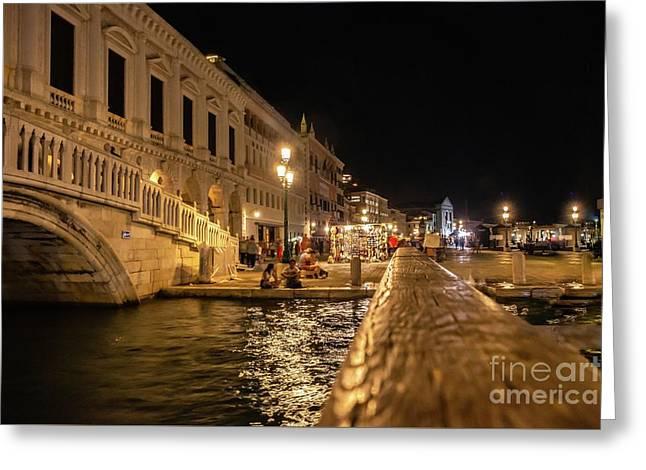Venice At Night. San Marco Greeting Card