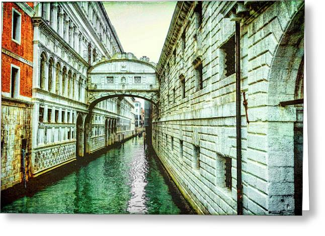 Venice Bridge Of Sighs Greeting Card