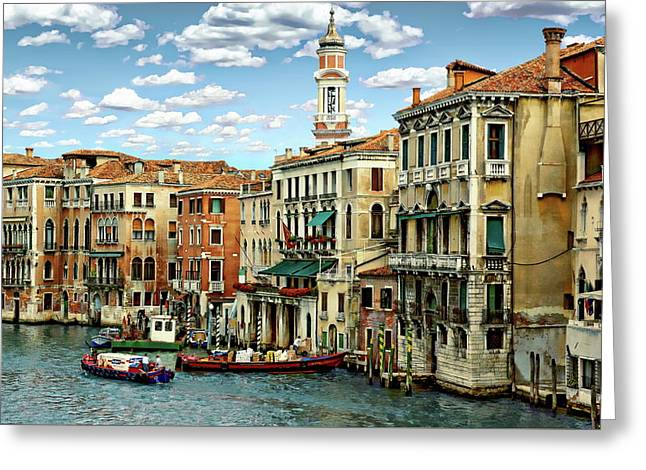 Greeting Card featuring the photograph Venice Canal by Anthony Dezenzio