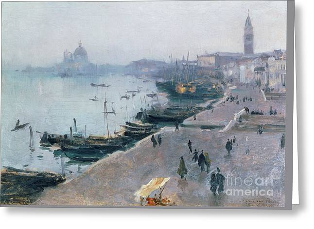 Venice In Grey Weather Greeting Card