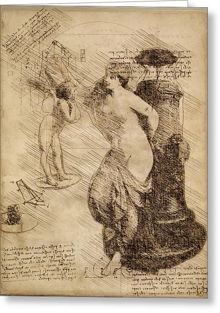Venus Weigh Cupid Greeting Card