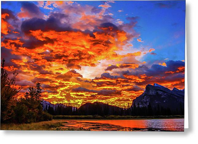 Vermillion Lakes, Banff National Park, Alberta, Canada Greeting Card