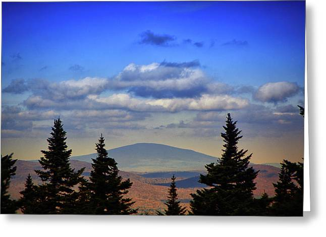 Greeting Card featuring the photograph Vermont From Mount Greylock Summit by Raymond Salani III