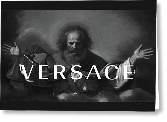 Versace-3 Greeting Card