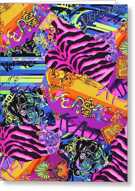 Versace Abstract-1 Greeting Card