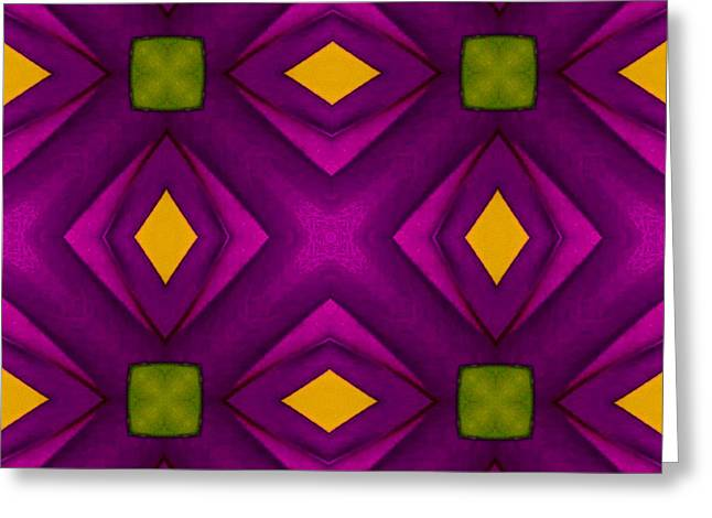 Vibrant Geometric Design Greeting Card