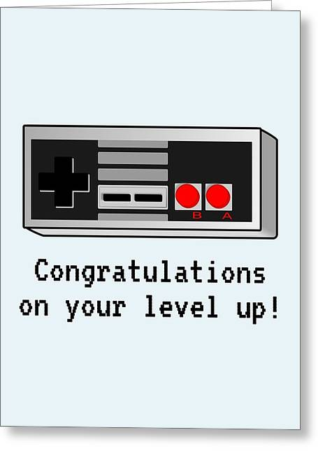 Video Gamer Birthday Card - Retro Game Console Printable Card - Congratulations On Your Level Up Greeting Card