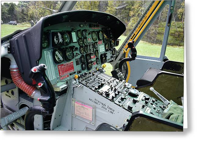 Vietnam Era Helicopter 049 Control Panel 01 Greeting Card