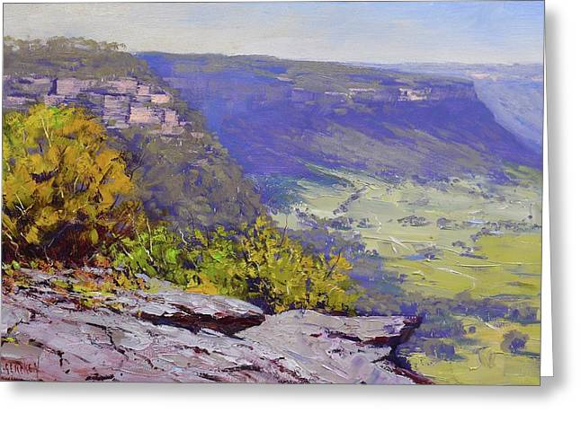 View From Hassons Wall Lithgow Greeting Card
