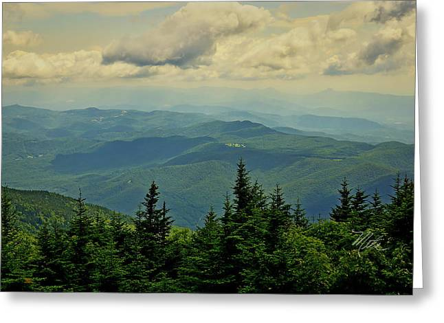 Greeting Card featuring the photograph View From Mount Mitchell by Meta Gatschenberger