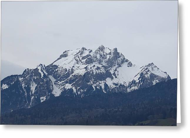 View From My Art Studio - Pilatus - March 2018 Greeting Card