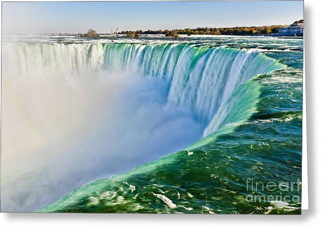 View From The Edge Of Niagara Falls Greeting Card