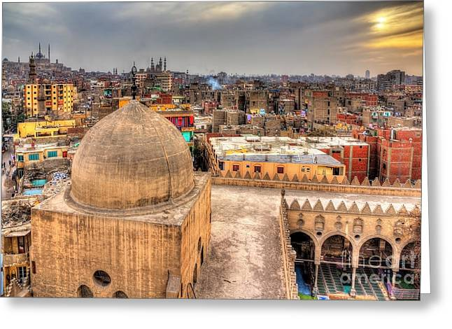 View Of Cairo From Roof Of Amir Greeting Card