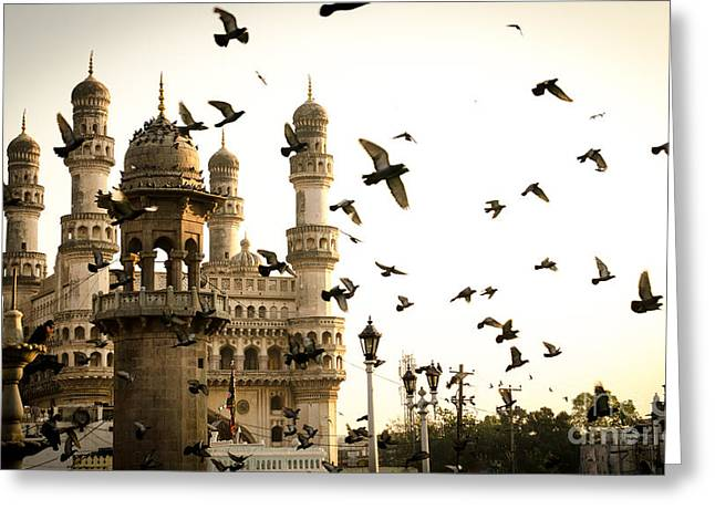 View Of Charminar, Hyderabad. India Greeting Card