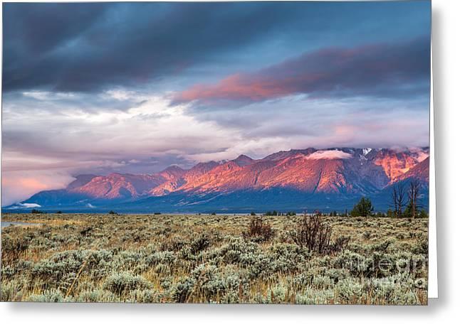 View Of Grand Teton Mountain Range At Greeting Card