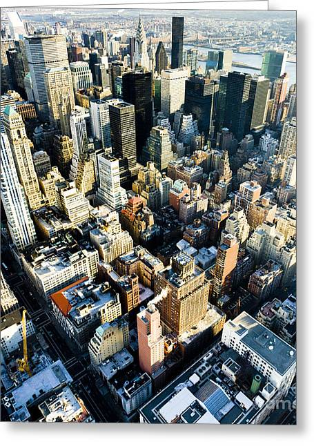 View Of Manhattan From The Empire State Greeting Card