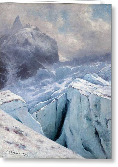 View Of Mont Blanc,1896 Greeting Card