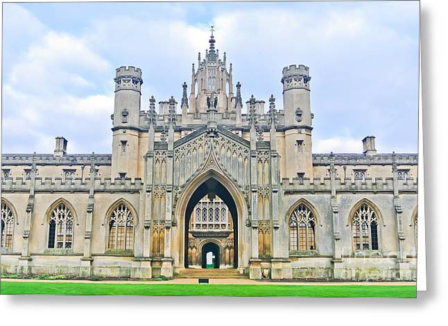 View Of St Johns College, University Of Greeting Card