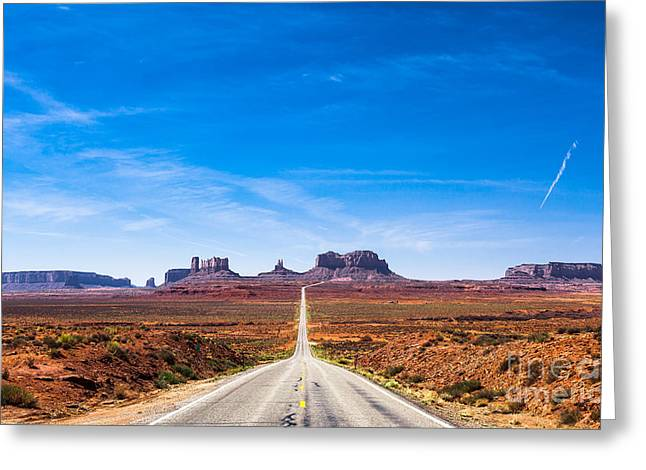 View Of The Monument Valley And The Greeting Card