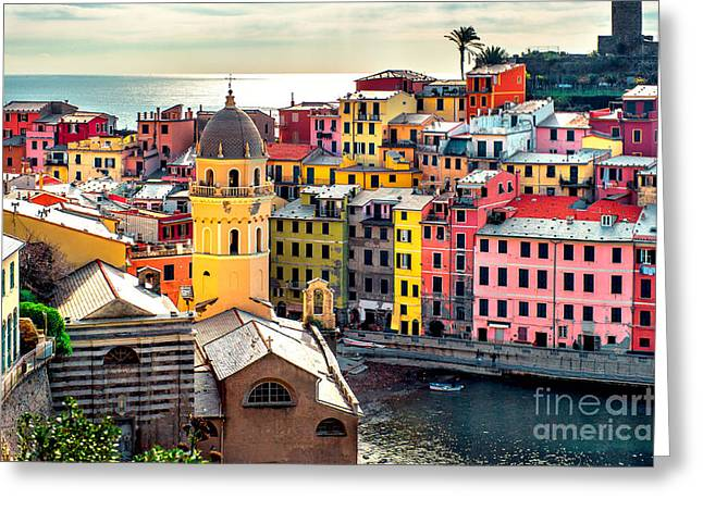 View Of Vernazza. Vernazza Is A Town Greeting Card