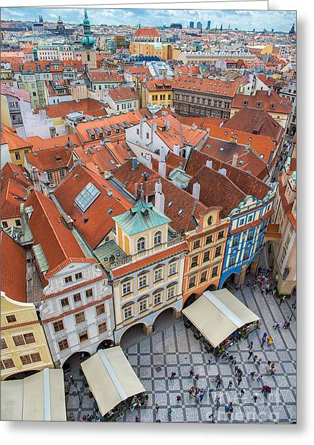 View Over The Rooftops Of The Old Town Greeting Card
