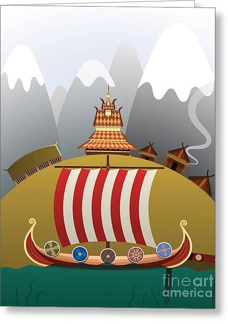 Viking Ship Greeting Card