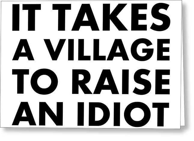 Village Idiot Bk Greeting Card