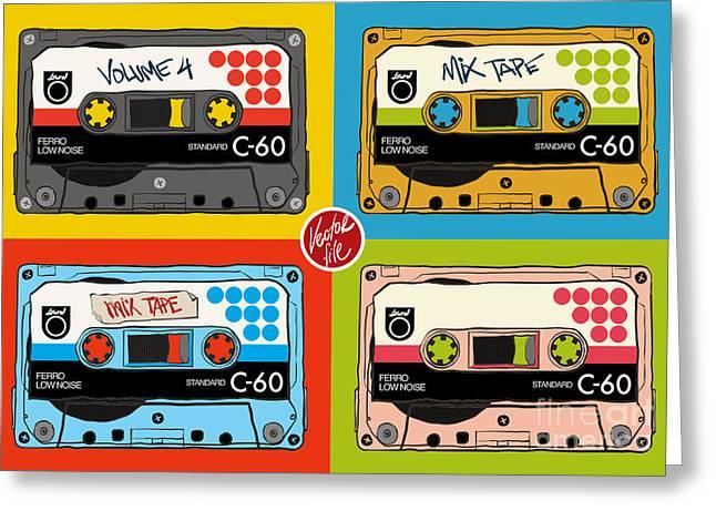 Vintage Audio Tapes Greeting Card