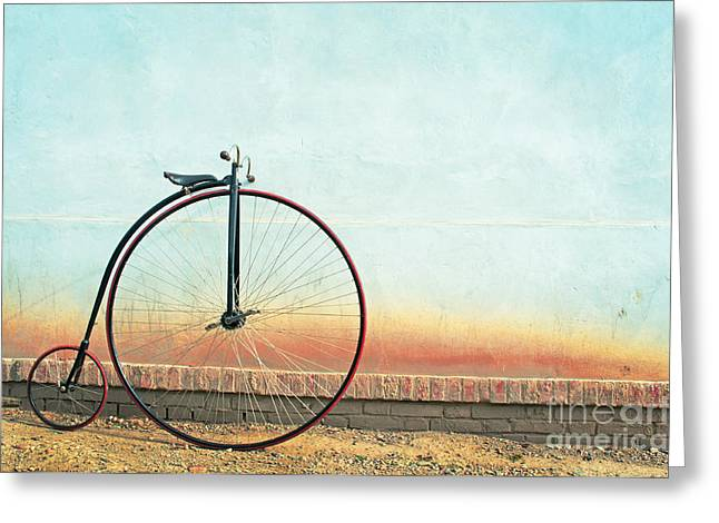 Vintage Bicycle, Penny Farthing,high Greeting Card