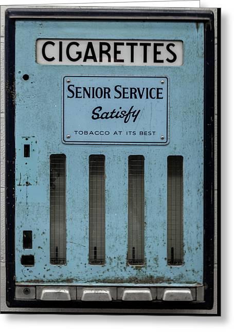 Senior Service Vintage Cigarette Vending Machine Greeting Card