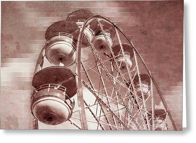 Vintage Ferris Wheel Greeting Card