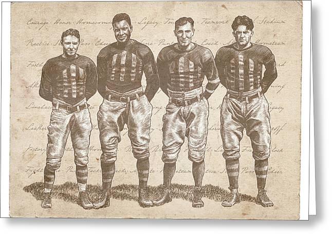 Vintage Football Heroes Greeting Card