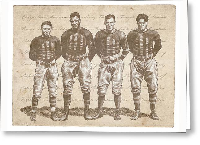 Vintage Football Heroes Greeting Card