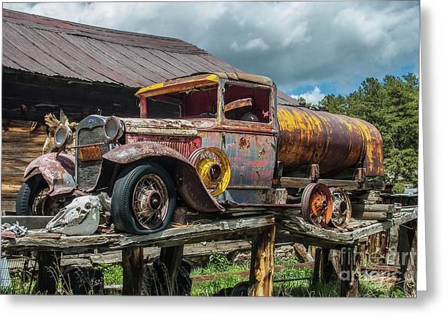 Vintage Ford Tanker Greeting Card