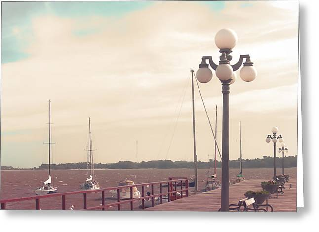 Vintage Sea Port Greeting Card by Andrekart Photography