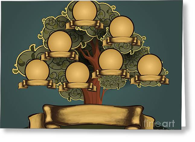 Vintage Style Family Tree Design Greeting Card