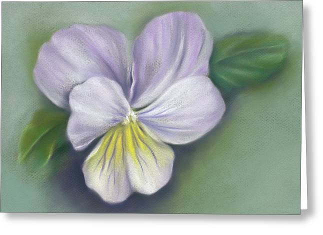 Greeting Card featuring the pastel Viola Purple And Yellow by MM Anderson