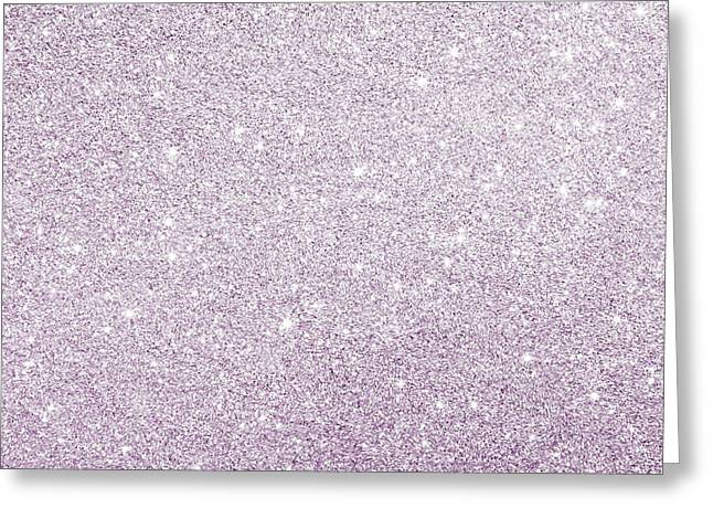 Greeting Card featuring the photograph Violet Glitter by Top Wallpapers