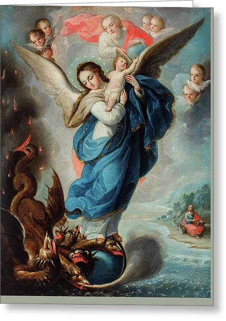 Virgin Of The Apocalypse Greeting Card