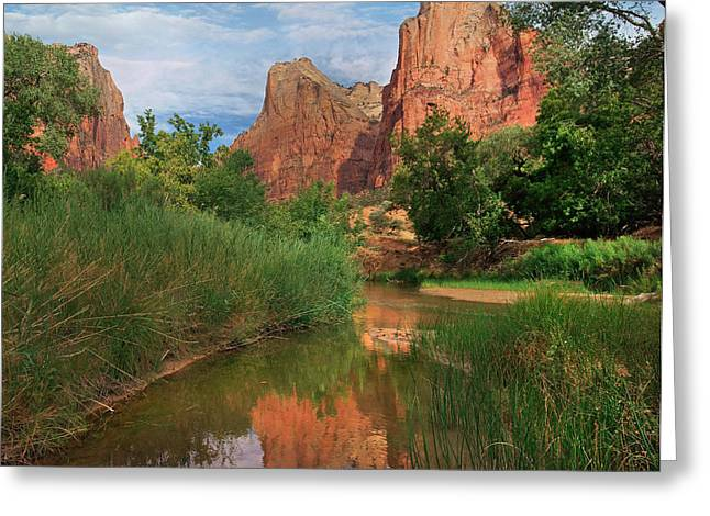 Virgin River And Court Greeting Card