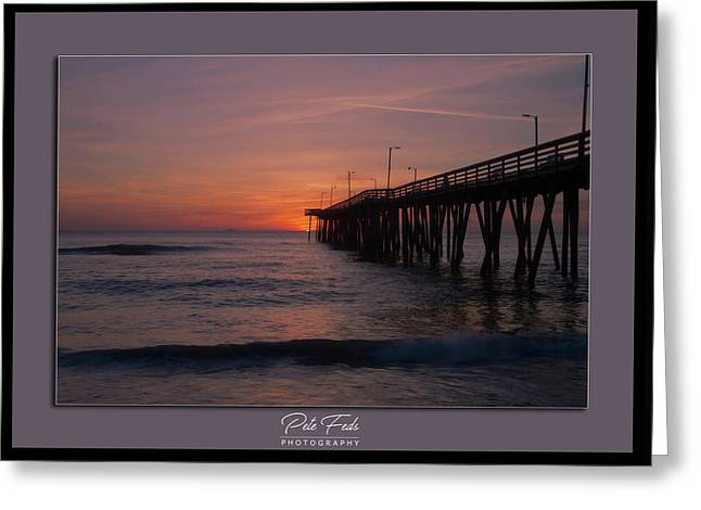 Greeting Card featuring the photograph Virginia Beach Sunrise by Pete Federico