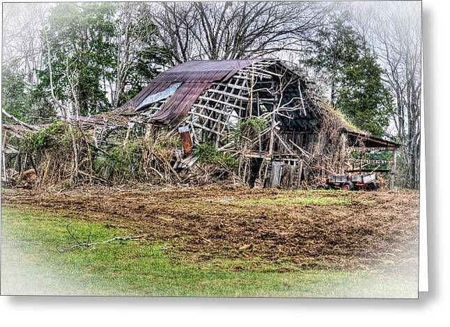 Vision Of A Dilapidated Barn  Greeting Card