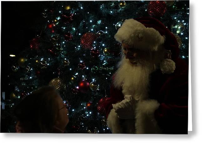 Visit With Santa Greeting Card