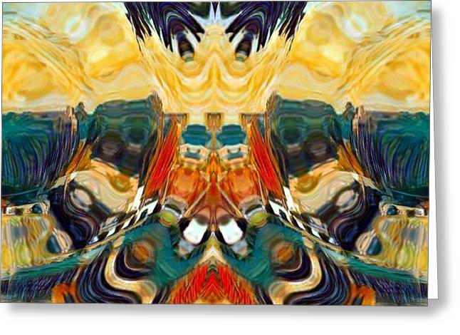 Greeting Card featuring the digital art Volcano by A zakaria Mami