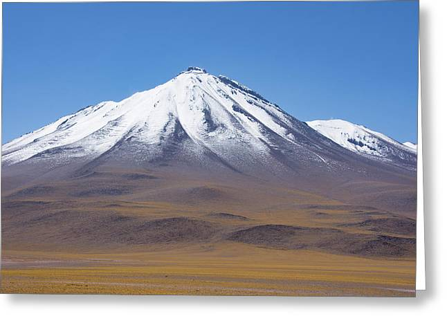 Volcano On The Altiplano Greeting Card