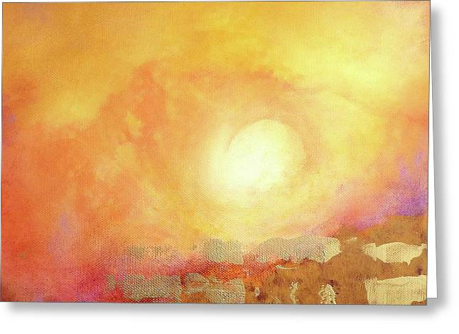 Greeting Card featuring the painting Vortex Of Light by Valerie Anne Kelly